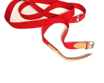Vintage Red Double Layer Belt