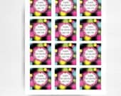 Girl Laser Tag Glow Neon Party Printable Favor Tags You Print INSTANT DOWNLOAD