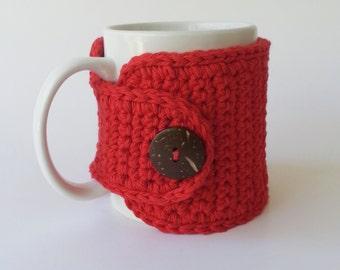 Crochet Cup Cozy, Crochet Mug Cozy, Tea Gift, Coffee Gift, Office Gift, Teacher Gift, Christmas Gift