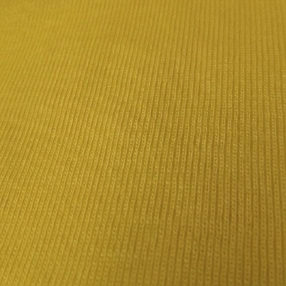 Mustard yellow 1x1 baby rib knit fabric 100 cotton fabric for Yellow baby fabric