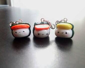 Kawaii Sushi Handmade Polymer Clay Charm