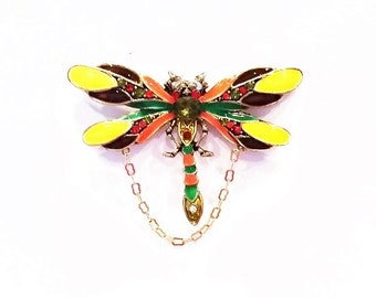 Multi Colored Dragonfly Magnetic Eyeglass Holder