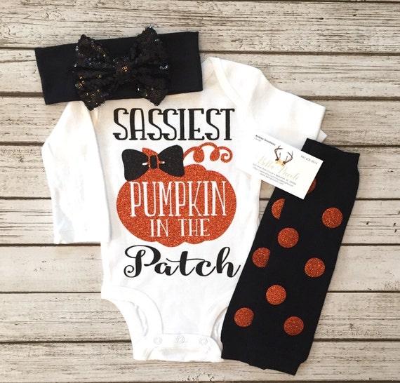 Halloween Bodysuit Halloween Shirt Sassiest Pumpkin In The