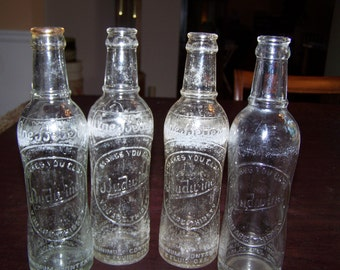 Vintage  Budwine Bottles  --  One Better  --  Group of 4