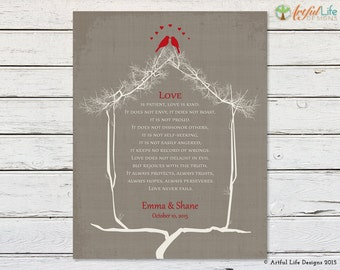 CHRISTIAN GIFTS, Love is Patient, 1 Corinthians 13, Wedding Gift for Couple, Anniversary Gift, Housewarming Gift, Bible Verse Prints