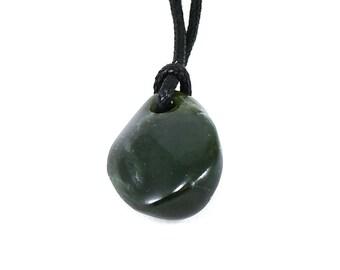 Big Sur jade pendant, natural jade pendant, nephrite jade necklace