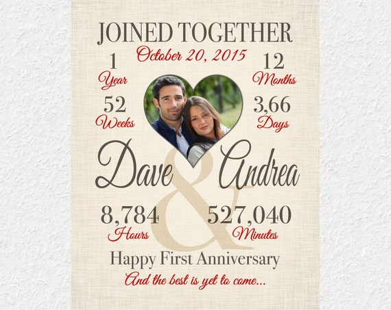 Year Anniversary Gift, Custom Anniversary Gift, Joined Together ...