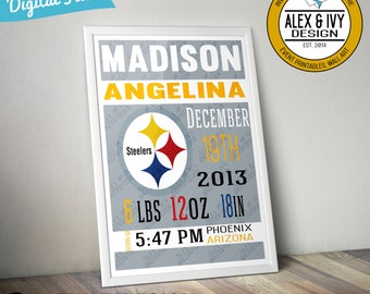 Pittsburgh Steelers Kids Room Nursery Announcement
