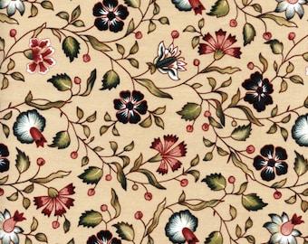 Swatch indienne fabric motif 7 on tea base - 50x55cm