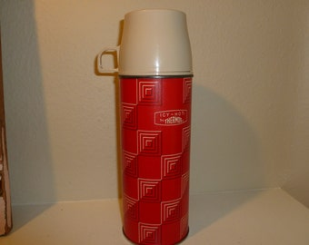 Vintage Classic Red Thermos