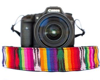 Bohemian Camera Strap Rainbow