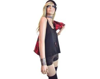 HELMUT LANG tank top minimalist shirt 90s grunge shirt vintage 90s shirt black top womens made in Italy thrasher