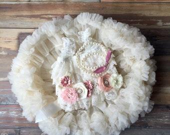 Baby girl first birthday dress. Girl birthday outfit. Tutu dress. Petti skirt. 2nd birthday outfit. 1st birthday