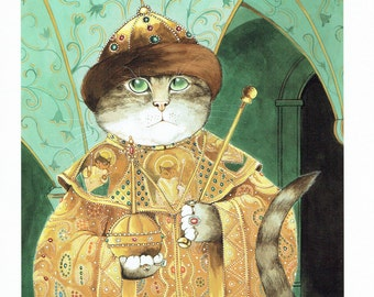 Susan Herbert Cats Tsar of Russia, Fine Art Print, Book Page, Illustration, Wall Decor, Cat Lovers CO15