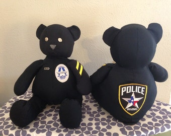 Custom Uniform Bear, Remembrance Bear, Memory Bear, Honor Bear, Memorial Bear