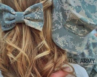 Original Military Army ACU (old Army uniform) Camo Classy Corner Nametape Bow
