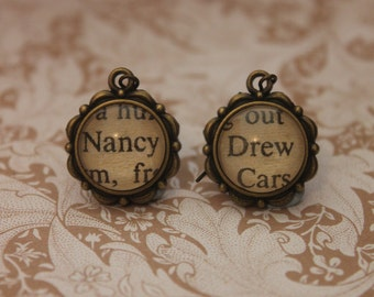 Nancy Drew Earrings ~ Carolyn Keene ~