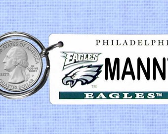 Personalized Philadelphia Eagles keychain - key ring  (Eagle)