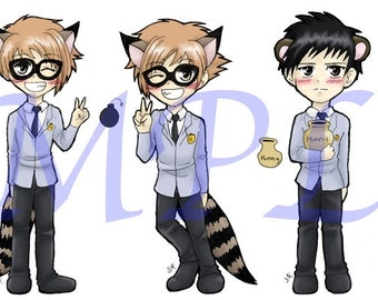 Ouran Keychains