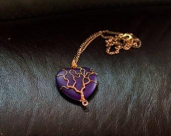 heart and tree pendant