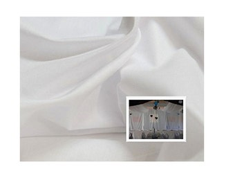 25 meters fabric GREAT WIDTH 320 CM, marriage, Deco opaque white taffeta