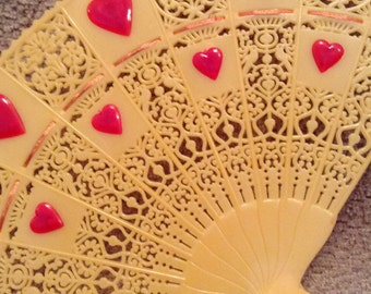 Vintage Valentine Decor - FTD Celluloid Fan Floral Pick