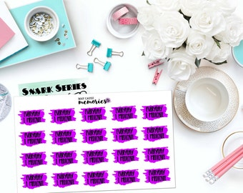 "SNARK SERIES: ""Everyday I medicate."" Paper Planner Stickers!"