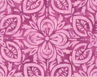 Latitude Purple Magenta Batik Fabric by Kate Spain for Moda by the half yard, Hand Dyed 100% Cotton