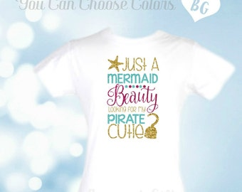 Mermaid Party Outfit-Pirate-Mermaid Party-Birthday Shirt