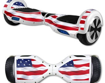 Skin Decal Wrap for Self Balancing Scooter Hoverboard unicycle American Flag