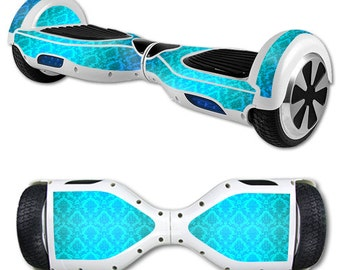 Skin Decal Wrap for Self Balancing Scooter Hoverboard unicycle Blue Vintage