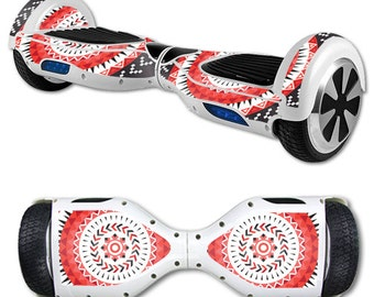 Skin Decal Wrap for Self Balancing Scooter Hoverboard unicycle Red Aztec