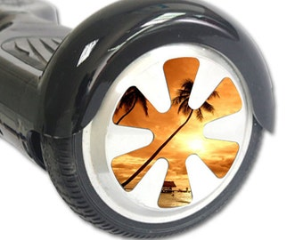 Skin Decal Wrap for Hoverboard Balance Board Scooter Wheels Sunset