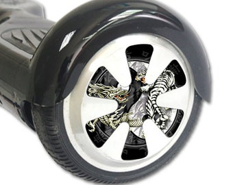 Skin Decal Wrap for Hoverboard Balance Board Scooter Wheels Ying and Yang