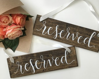 Reserved Sign | Reserved Wedding Sign | Ceremony Sign | Ceremony Signs | Reserved Signs for Wedding | Reserved Chair Sign