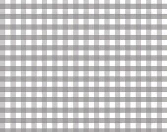 Gray Fabric by the Yard - Fat Quarter Bundle - Quilt Fabric - Gingham Fabric - Gray Gingham - Riley Blake Designs - Medium Gingham Gray