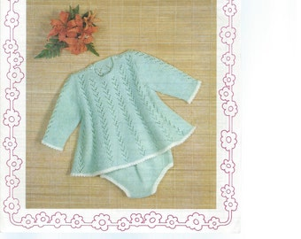 INSTANT DOWNLOAD - Knitting pattern, Robin, bambino - 2835 baby dress and knickers