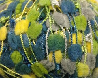 Online Linie 115 Picnic slub ladder bulky weight yarn (variegated green, blue, yellow)