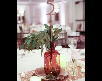 Wedding & Event Table Numbers (1-20)