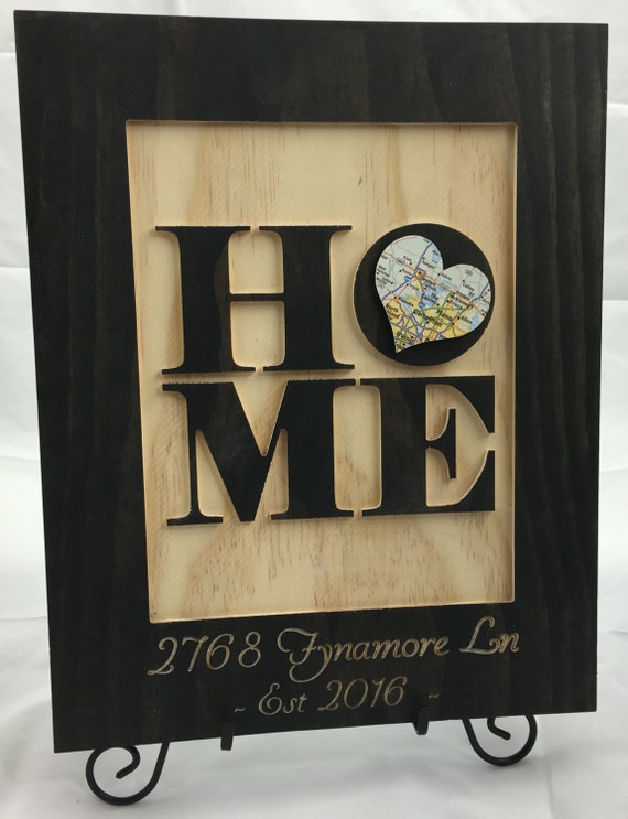 Unique housewarming gift new home address art by for Unique housewarming ideas