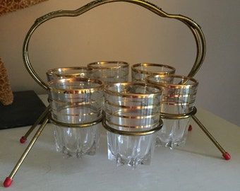 FREE SHIPPING - Vintage Shot Glass Set