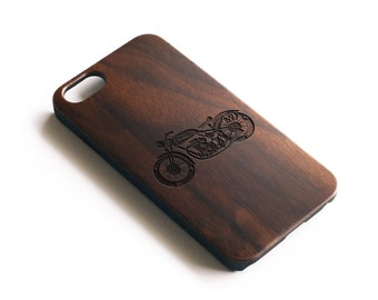 Iphone 6 Wood Case, Cafe Racer Iphone Case, Iphone 6 Case, Walnut Wood