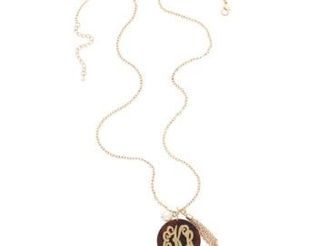 Serendipity Necklace , Monogram Necklace