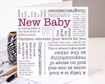 New Baby Card; Personalised New Baby Card; GC124