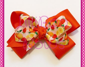 Handmade Summer Fruits Layered Hair Bow