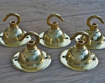 A set of 5 classic antique style brass ceiling rose NR6