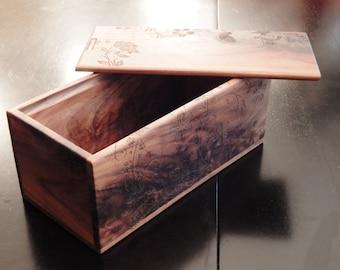 Handcrafted Walnut Keepsake Jewelry Box