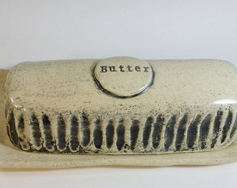 Handcrafted Pottery Butter Dish