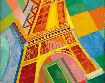 Robert Delaunay: Eiffel Tower. Fine Art Print/Poster. (003214)