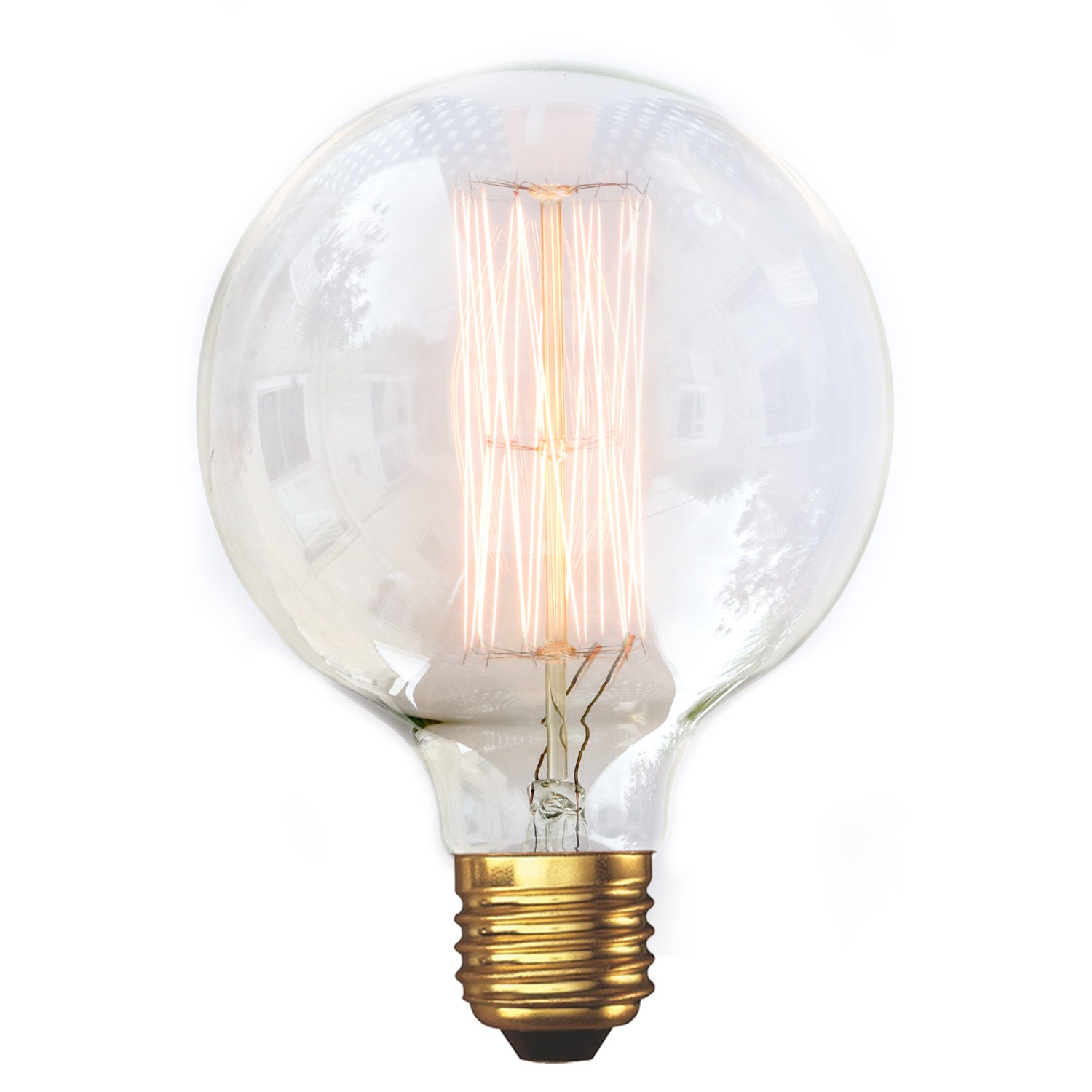 edison style vintage light bulb g95 medium globe squirrel. Black Bedroom Furniture Sets. Home Design Ideas